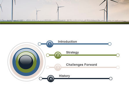 Wind Energy Windmills On Field PowerPoint Template Slide 3