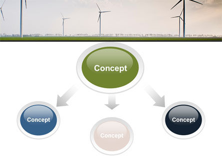 Wind Energy Windmills On Field PowerPoint Template Slide 4