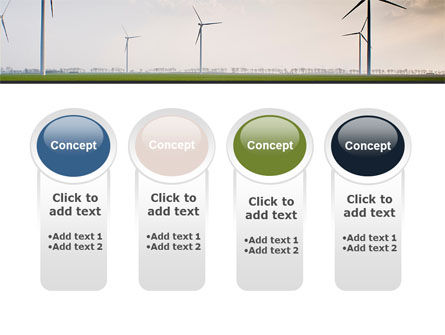 Wind Energy Windmills On Field PowerPoint Template Slide 5