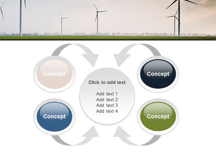 Wind Energy Windmills On Field PowerPoint Template Slide 6