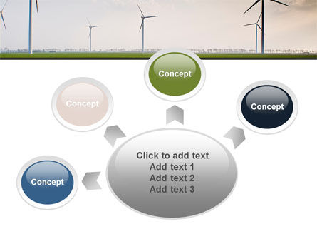 Wind Energy Windmills On Field PowerPoint Template Slide 7