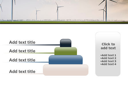 Wind Energy Windmills On Field PowerPoint Template Slide 8