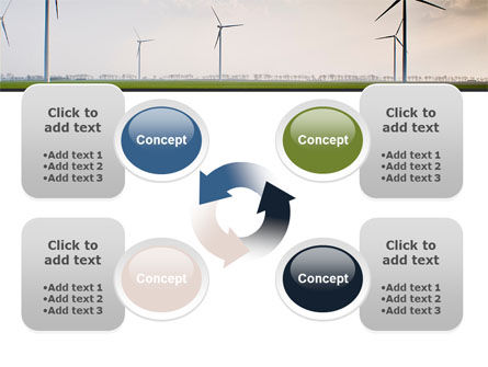 Wind Energy Windmills On Field PowerPoint Template Slide 9