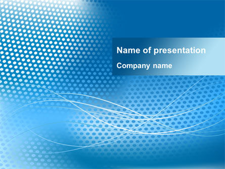 Blue Abstract Grid surface PowerPoint Template, 09916, Abstract/Textures — PoweredTemplate.com
