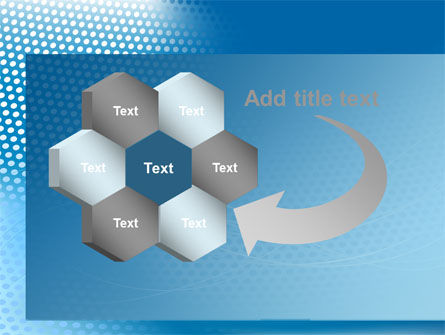 Blue Abstract Grid surface PowerPoint Template Slide 11
