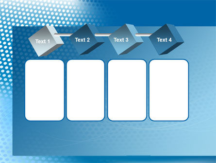 Blue Abstract Grid surface PowerPoint Template Slide 18