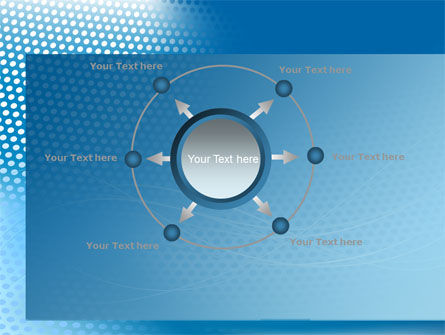 Blue Abstract Grid surface PowerPoint Template Slide 7