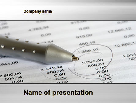 Calculation Result PowerPoint Template, 09917, Financial/Accounting — PoweredTemplate.com