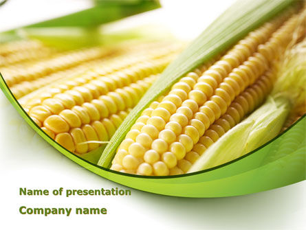 Agriculture: New Crop Of Maize PowerPoint Template #09918