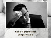 Business Concepts: Headache From The Problems PowerPoint Template #09919