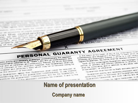 Personal Guaranty Agreement PowerPoint Template