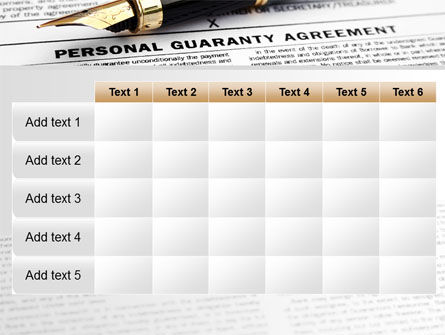 Personal Guaranty Agreement PowerPoint Template Slide 15