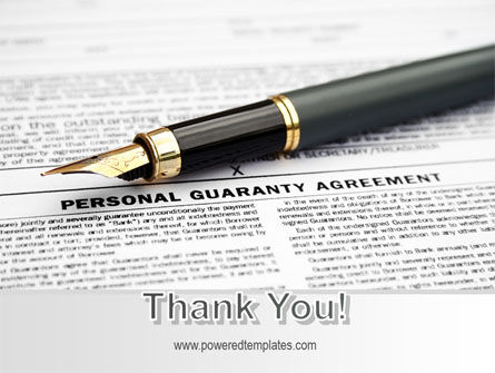 Personal Guaranty Agreement PowerPoint Template Slide 20