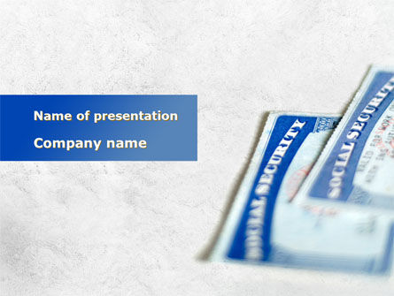 Financial/Accounting: Social Security Checks PowerPoint Template #09923