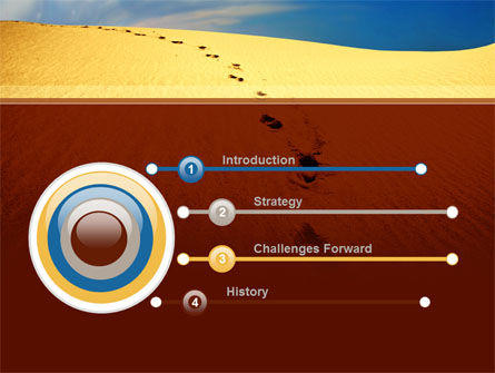 Traces In The Sand PowerPoint Template, Slide 3, 09924, Religious/Spiritual — PoweredTemplate.com