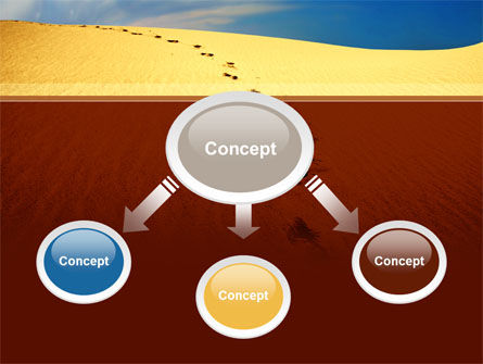 Traces In The Sand PowerPoint Template, Slide 4, 09924, Religious/Spiritual — PoweredTemplate.com
