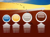 Traces In The Sand PowerPoint Template#13