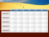 Traces In The Sand PowerPoint Template#15