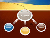 Traces In The Sand PowerPoint Template#4