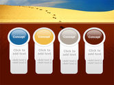 Traces In The Sand PowerPoint Template#5