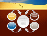 Traces In The Sand PowerPoint Template#6