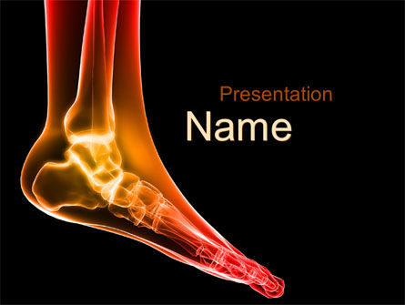 Ankle Radiography PowerPoint Template, 09925, Medical — PoweredTemplate.com