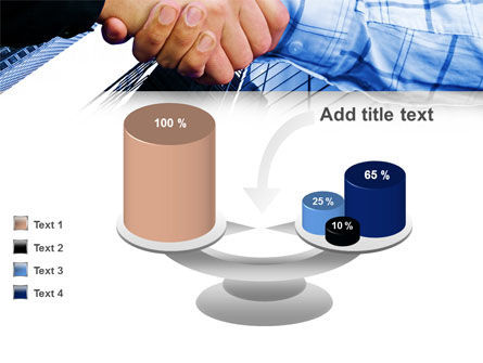 Handshake In Blue Colors PowerPoint Template Slide 10