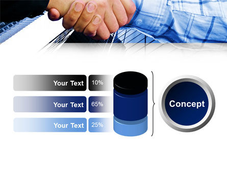 Handshake In Blue Colors PowerPoint Template Slide 11