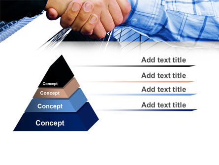 Handshake In Blue Colors PowerPoint Template Slide 12