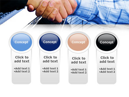 Handshake In Blue Colors PowerPoint Template Slide 5