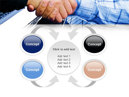 Handshake In Blue Colors PowerPoint Template Slide 6
