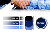 Handshake In Blue Colors PowerPoint Template#11