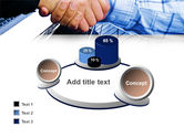 Handshake In Blue Colors PowerPoint Template#16