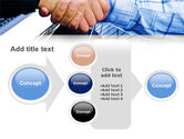Handshake In Blue Colors PowerPoint Template#17