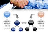 Handshake In Blue Colors PowerPoint Template#19