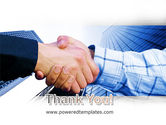 Handshake In Blue Colors PowerPoint Template#20