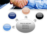 Handshake In Blue Colors PowerPoint Template#7