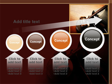 Mallet Of Judge PowerPoint Template Slide 13