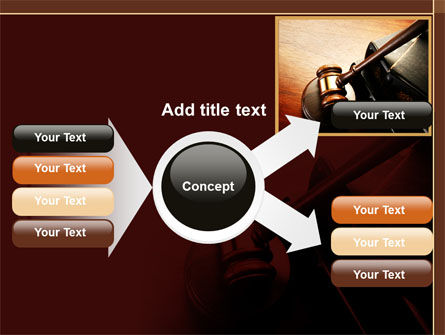 Mallet Of Judge PowerPoint Template Slide 14