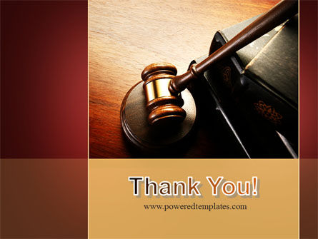 Mallet Of Judge PowerPoint Template Slide 20