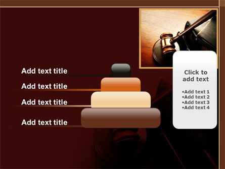Mallet Of Judge PowerPoint Template Slide 8