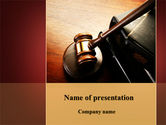 Legal: Mallet Of Judge PowerPoint Template #09927