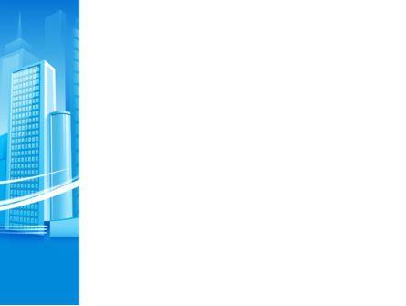 Blue City PowerPoint Template, Slide 3, 09929, Construction — PoweredTemplate.com