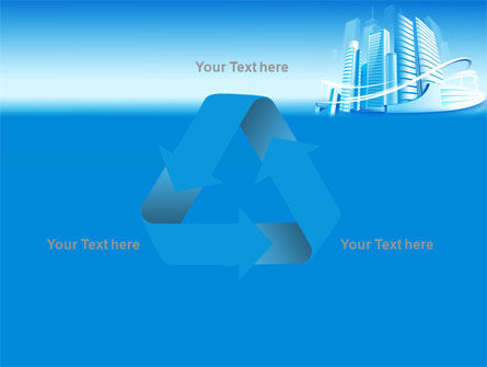 Blue City PowerPoint Template Slide 10