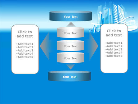 Blue City PowerPoint Template Slide 13