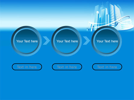 Blue City PowerPoint Template Slide 5