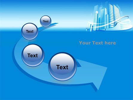 Blue City PowerPoint Template Slide 6