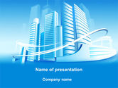 Construction: Blue City PowerPoint Template #09929