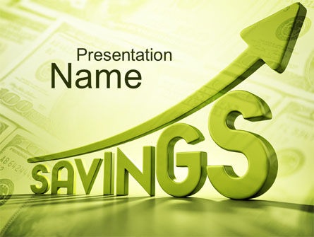 Rise Of Savings PowerPoint Template, 09930, Financial/Accounting — PoweredTemplate.com