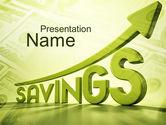 Financial/Accounting: 貯蓄の上昇 - PowerPointテンプレート #09930